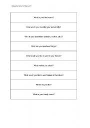 English Worksheets: writing a biopoem
