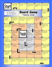 English Worksheet: Board Game - Passive Voice