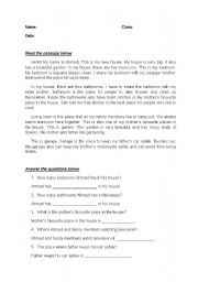 English Worksheets: comprehension question