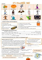 English Worksheets: IT�S HALLOWEEN TIME!