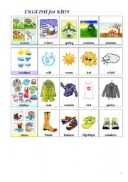 English Worksheets: ENGLISH in PICTURES (5th page, part I)