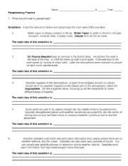 Printables Paraphrase Worksheet english teaching worksheets paraphrasing practice
