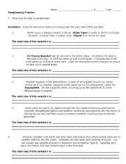 English Worksheet: Paraphrasing Practice