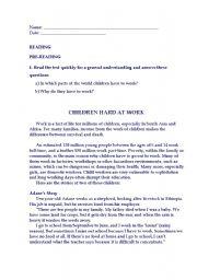 English Worksheets: Reading_Children_hard_at_work