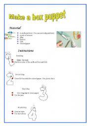 English Worksheets: Box Puppet