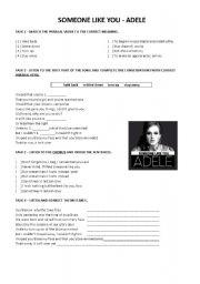 English Worksheets: Adele - Someone like you