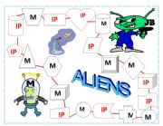 English Worksheets: Alien Attack - Let�s fight back! (Part 2 - gameboard and scoresheet)