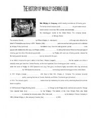 English Worksheet: PASSIVE VOICE IN CONTEXT  -The History of Chewin gum