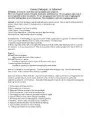English Worksheets: Verbals