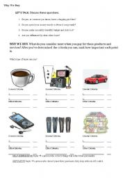 English Worksheets: Why We Buy