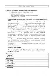 English worksheet: The Twilight Saga