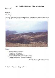 English Worksheet: Deforestation and forests