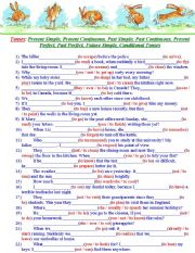 English worksheets: past perfect worksheets, page 18