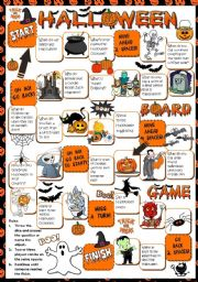 English Worksheets: Halloween - BOARDGAME