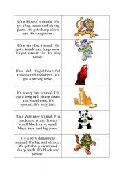 English Worksheets: Animals descriptions