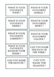 English Worksheet: Cards for board games (e.g. snakes and ladders) 1/5