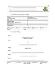 English Worksheets: Greetings andintroductions