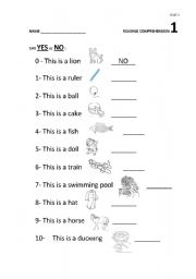 Reading comprehension 1 - For Year 3 - ESL worksheet by escolapia
