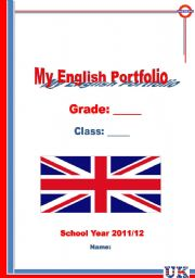 English Worksheets: My English Portfolio