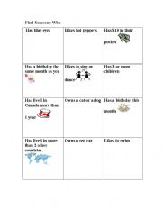 English Worksheets: Find someone new