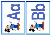 English Worksheet: Alphabet Flash Cards