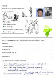 English Teaching Worksheets Friendship