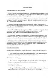 English Worksheet: reading job advertisements