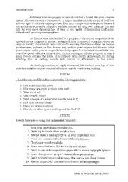 English Worksheets: virus