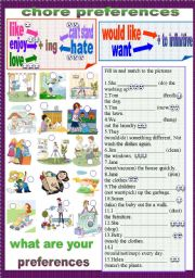 English Worksheets: chore preferences