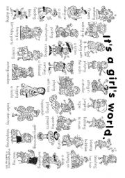 English Worksheet: It�s a girl�s world: everyday actions of girls (2 posters)