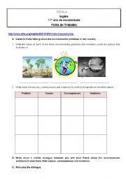 English Worksheets: Environmental problems