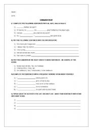 English worksheet: Simple present and frequency worksheet