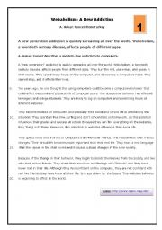 English Worksheet: Addictions