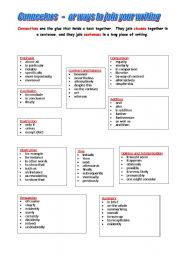 English Worksheets: Connectives - ways to join your writing