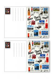 Write a postcard  from London  (Present perfect)