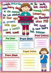 English Worksheet: Time expressions