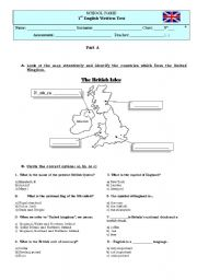 English worksheet: test for almost beginners