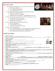 English Worksheet: The Big Bang Theory - Sheldon is sick- 2nd part