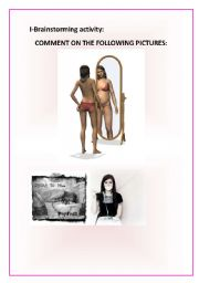 English Worksheet: Anorexia-Anorexic model on road to recovery