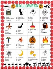 English worksheets: Halloween worksheets, page 83
