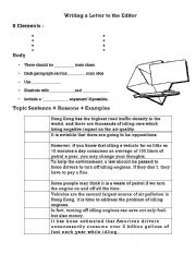 English Worksheets: Writing a Letter to the Editor