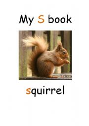 English Worksheets: My S book