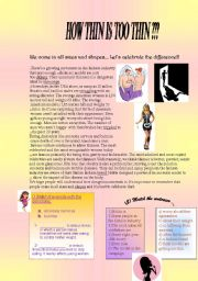 READING AND COMPREHENSION (anorexia and bulimia)