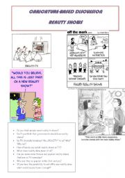 English Worksheet: Caricature-based discussion - The Reality Shows