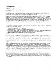 English Worksheets: Presentation