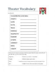 31 Acting And Theatre Terminology Worksheet Answers