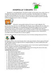 English Worksheets: Donatella�s talents