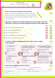 English Worksheets: What�s your house like?  -  Listening comprehension
