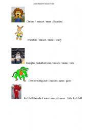 English Worksheets: describing mascots