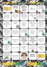 English Worksheet: Name Four Things....Board Game